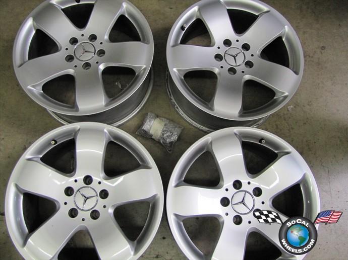 "0305 Mercedes MBZ E320 E500 Factory 17"" Wheels Rims OEM  Socal"