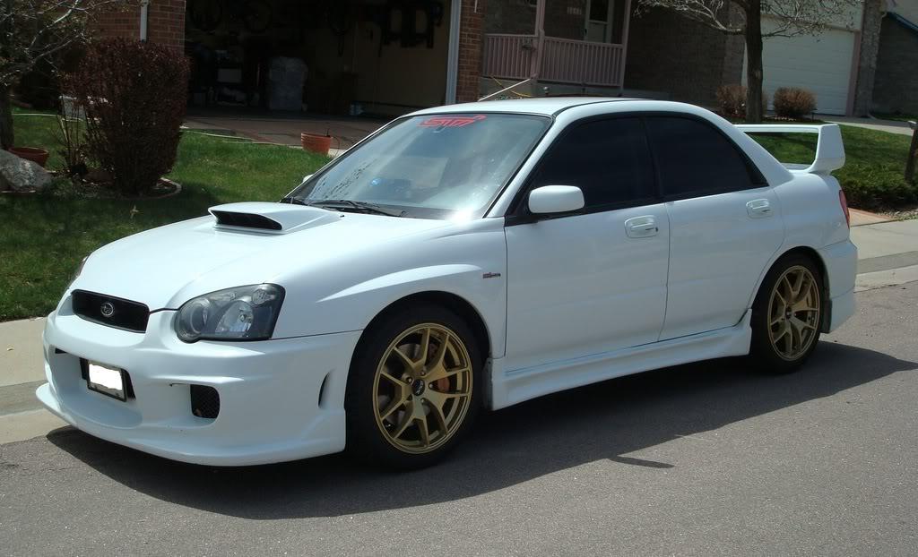 05 Subaru WRX STI White