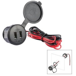 12 Volt Panel Mount USB Port Charger