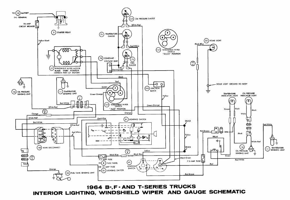1964 ford truck wiring diagram - image details, Wiring diagram