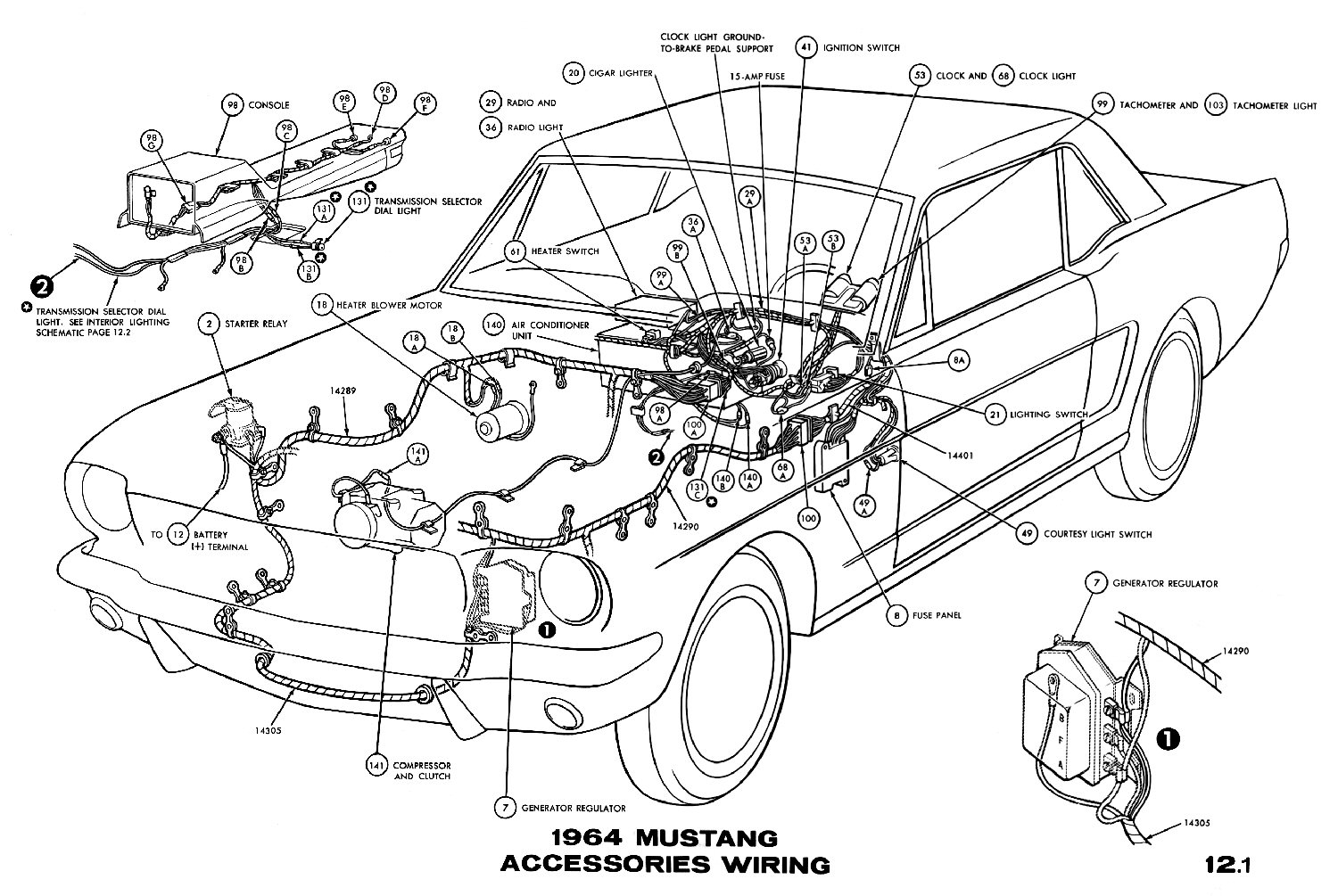 1964 Chevy Wiring Diagram Image Details 64 Mustang