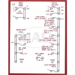 1966 ford thunderbird fuse panel diagram image details 1966 ford thunderbird fuse panel diagram