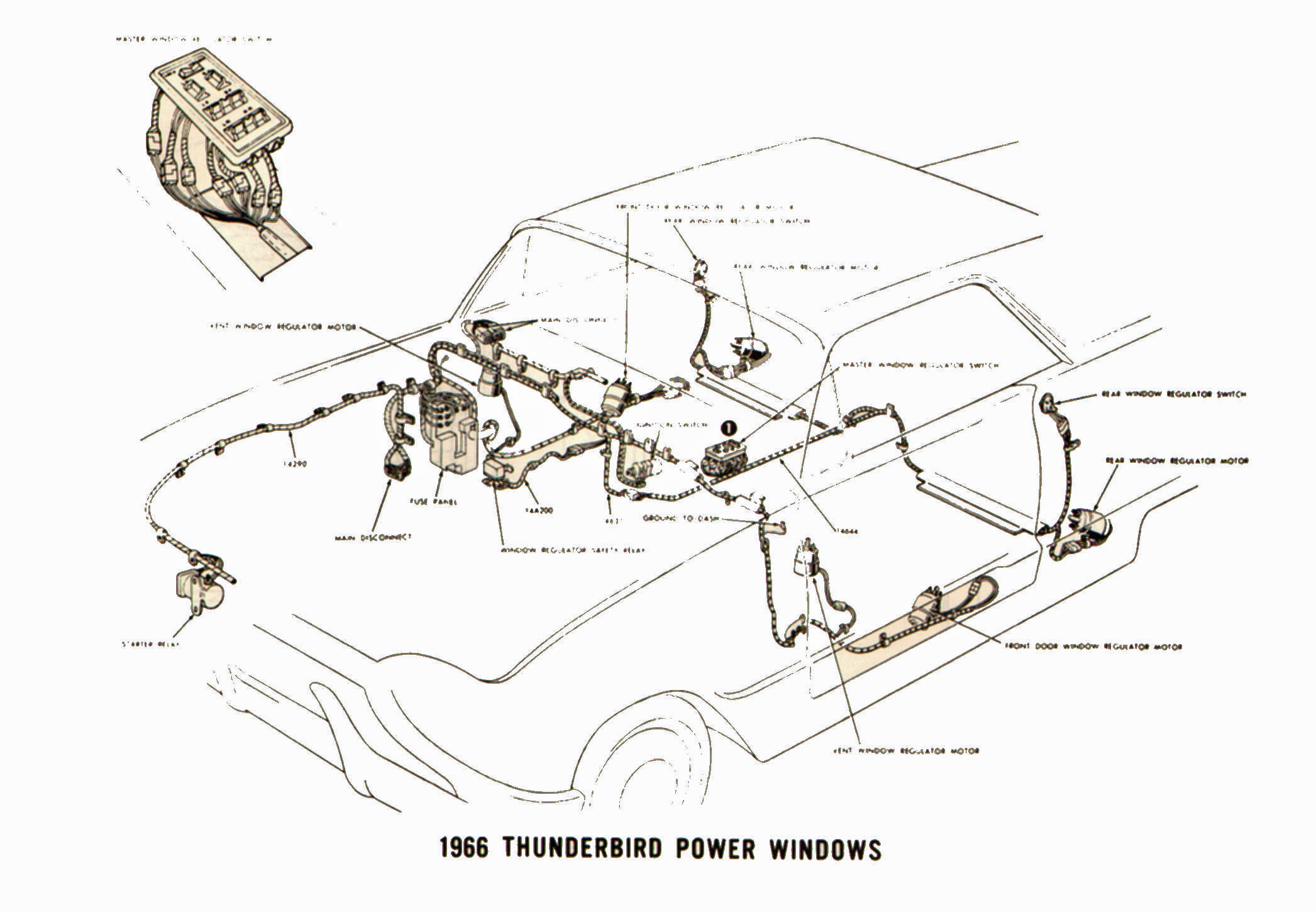 Wiring Diagram For 1964 Ford Thunderbird Trusted Schematics Radio Fuse Box Electrical Diagrams 1966