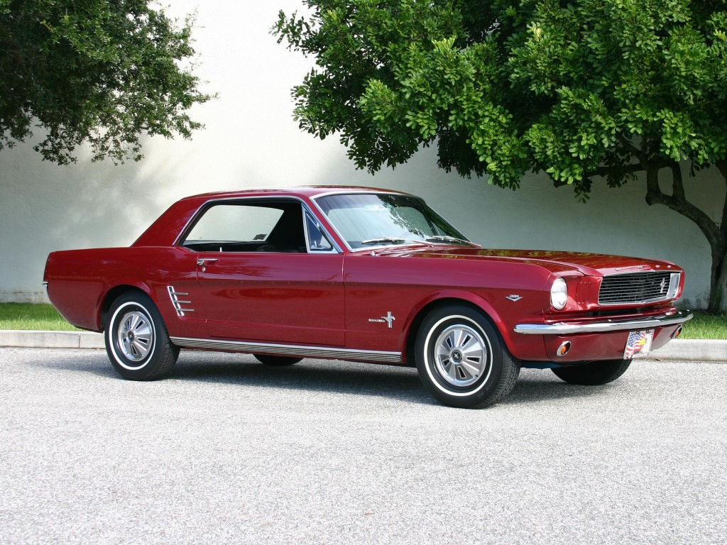 1966 Mustang Candy Apple Red