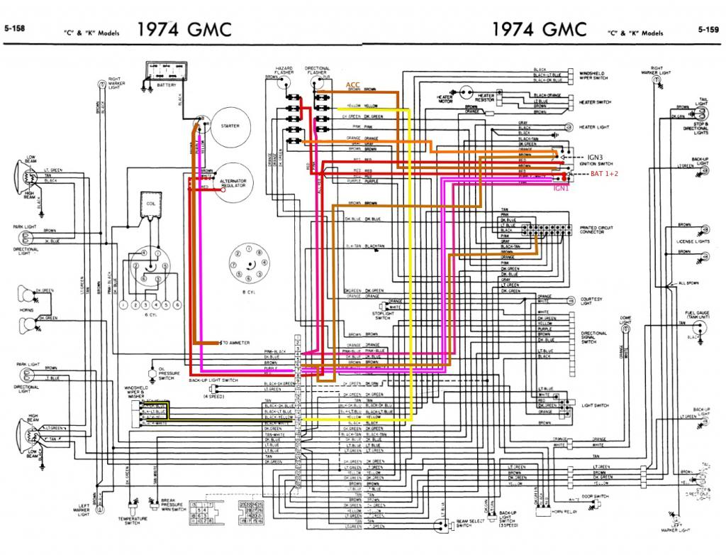 1984 gmc wiring diagrams 1984 wiring diagrams 1973 chevy truck wiring diagram bmrgprn