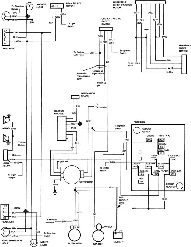 88 k1500 fuse block wiring diagram