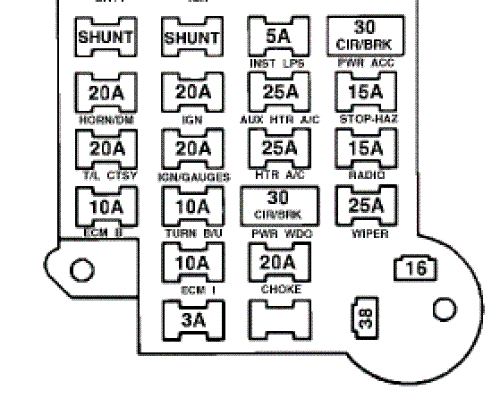 1987 chevy fuse box diagram