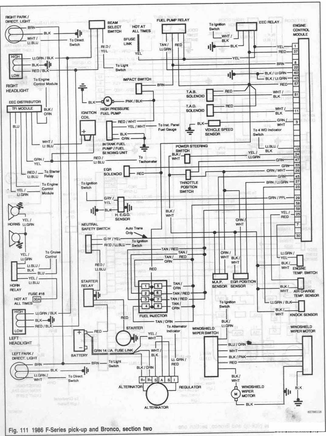 1986 Ford Bronco Wiring Diagram