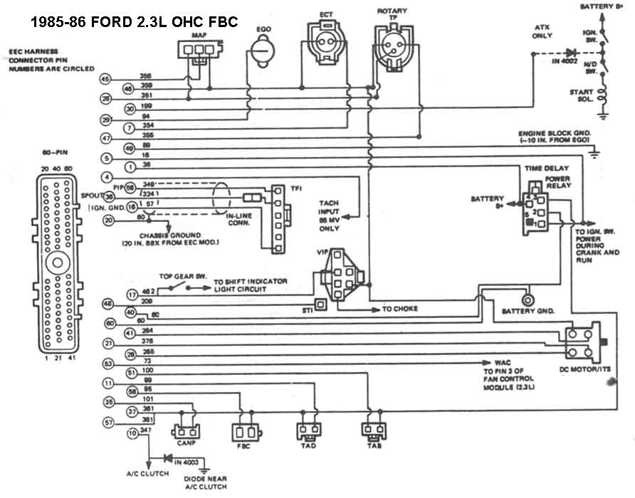 Ford Mustang 302 Alternator Wiring Harness Diagram