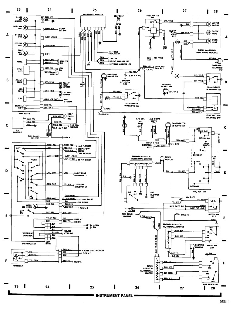 f250 dash wiring diagram wiring wiring diagram for light switch u2022 rh prestonfarmmotors co 92 Ford F-250 Diesel 1987 Ford F-250 Wiring Diagram