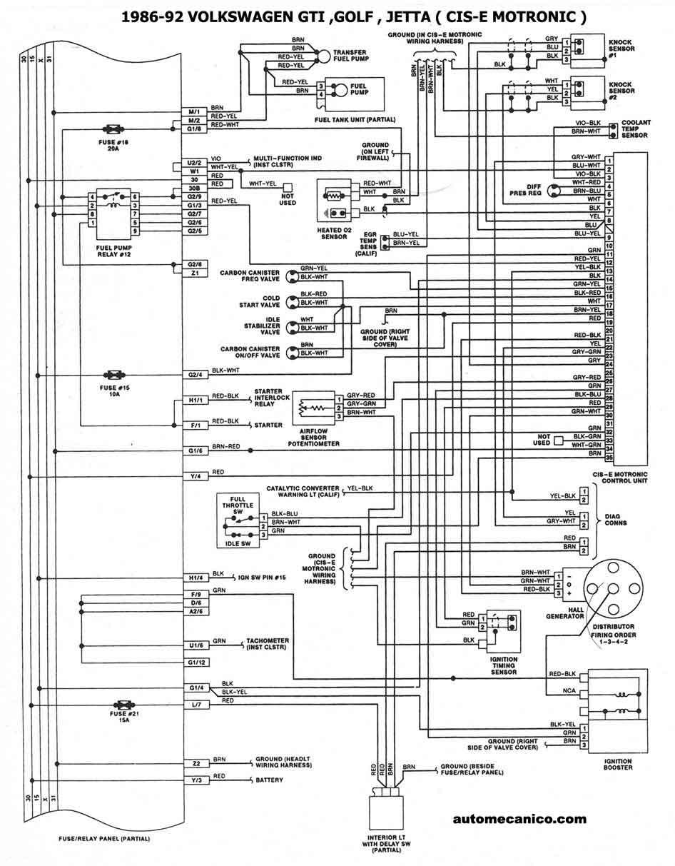 1990 VW Jetta Relay Diagram
