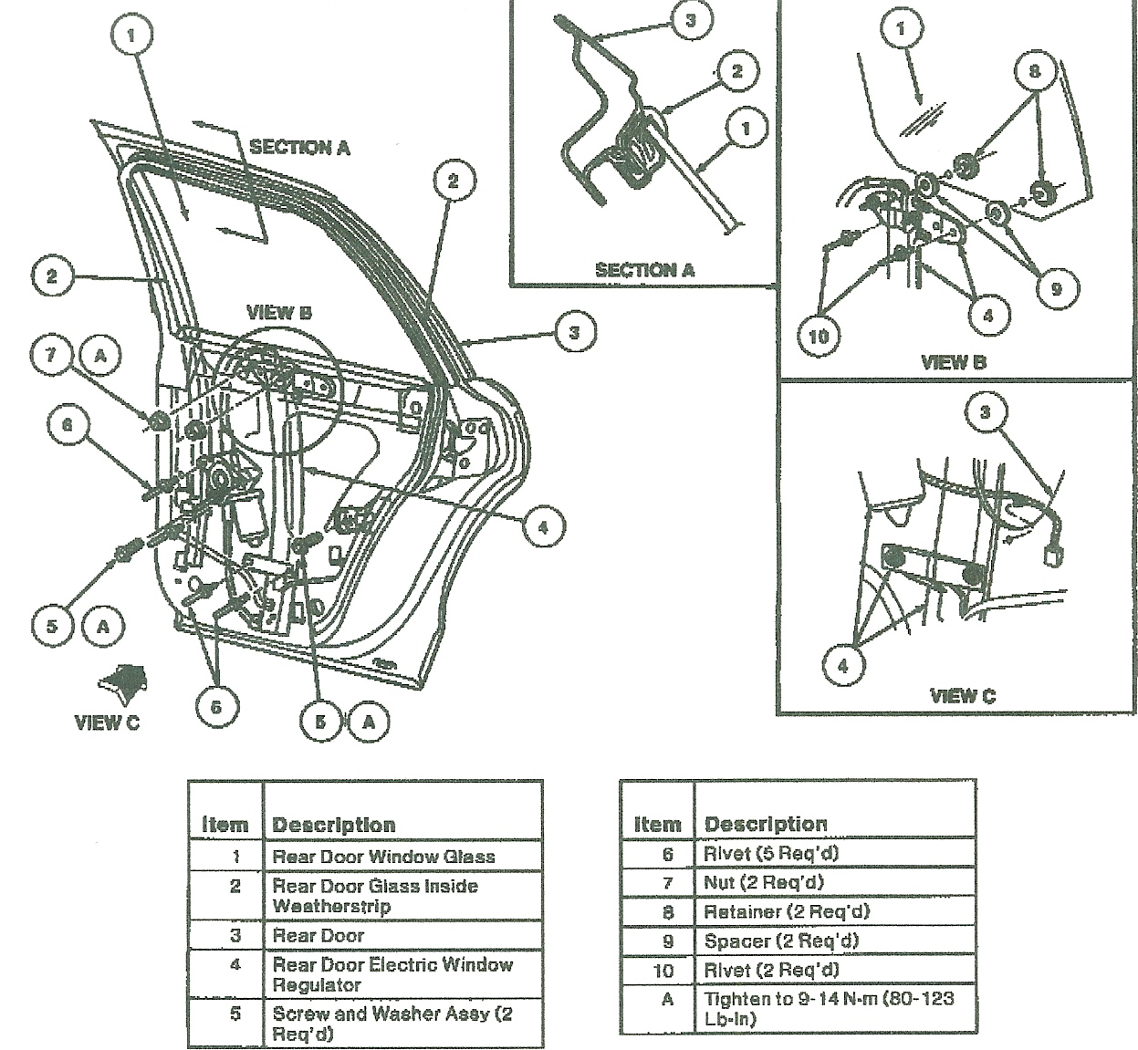 2000 Lincoln Town Car Door Diagram Trusted Wiring 97 Fuse Box Window Regulator Cable Image Details Panel 1991