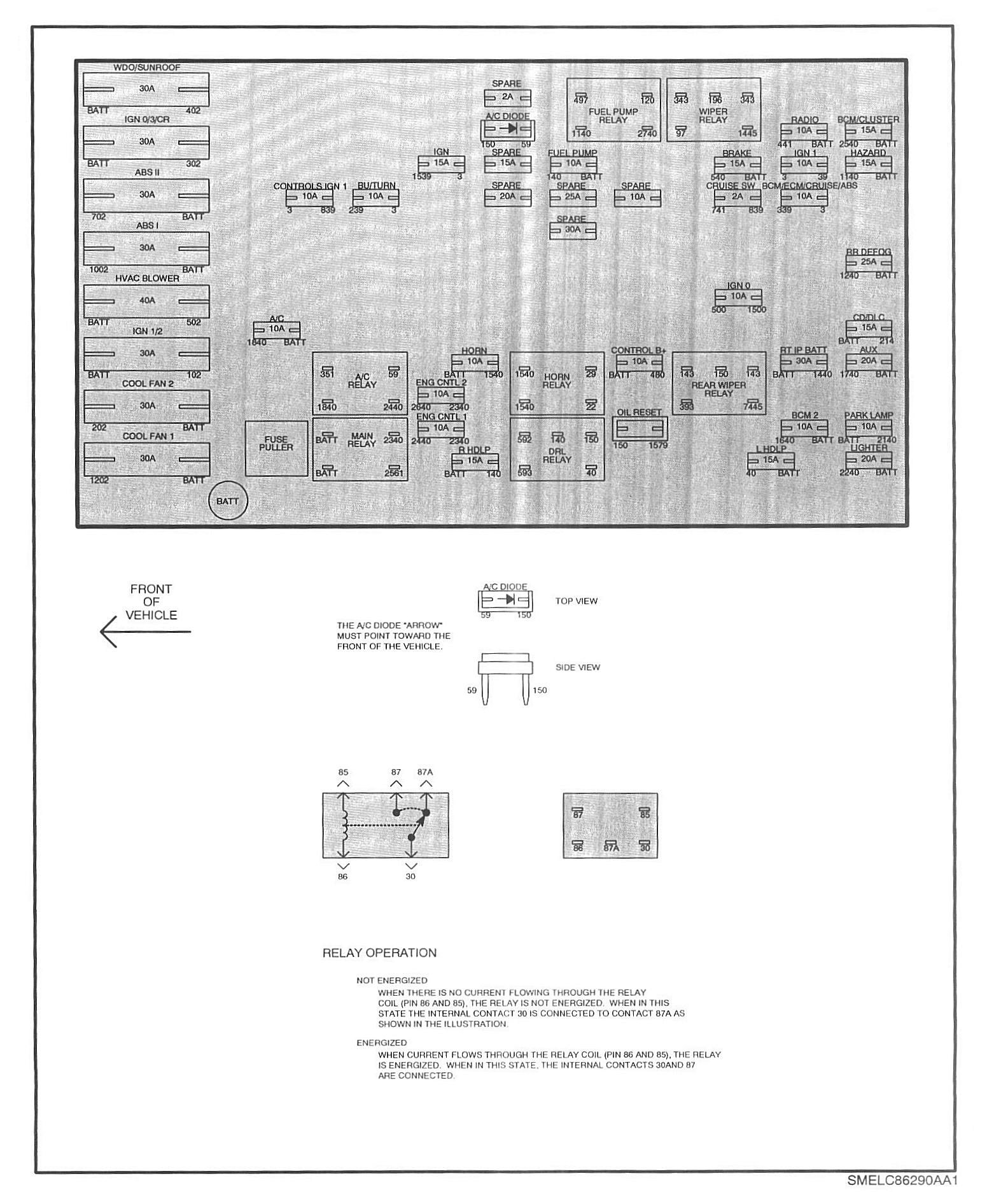 1987 toyota pickup fuse box diagram