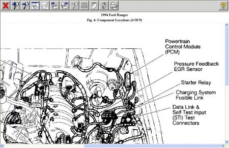 1994 Ford Ranger PCM Location