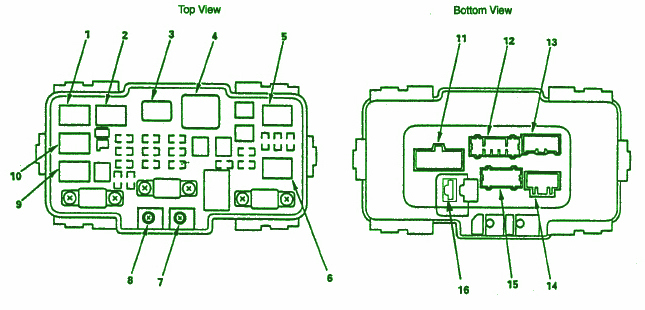 1995 Honda Prelude Fuse Box Diagram Image Details