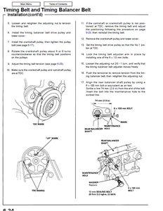1995 Honda Accord Timing Marks Diagram