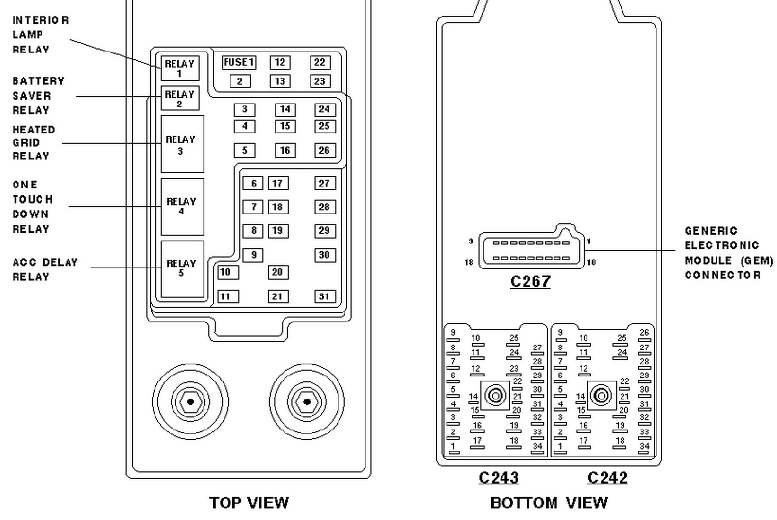 Diagram On 1997 Expedition Fuses Wiring Library Fuse Box For 1998 F 150 Pickup Ford Image Details Truck 750
