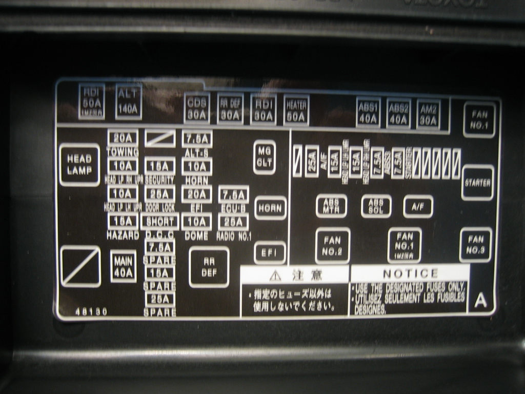 97 Toyota Tacoma Fuse Box Wiring Diagram Golden Schematic 2001 Camry Blower 1997 Location Image Details Rh Motogurumag Com 2008