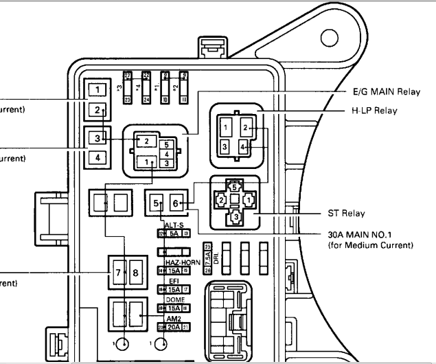 1997 toyota rav4 fuse diagram image details rh motogurumag com 2016 Toyota RAV4 Fuse Box Toyota RAV4 Fuse Box Location