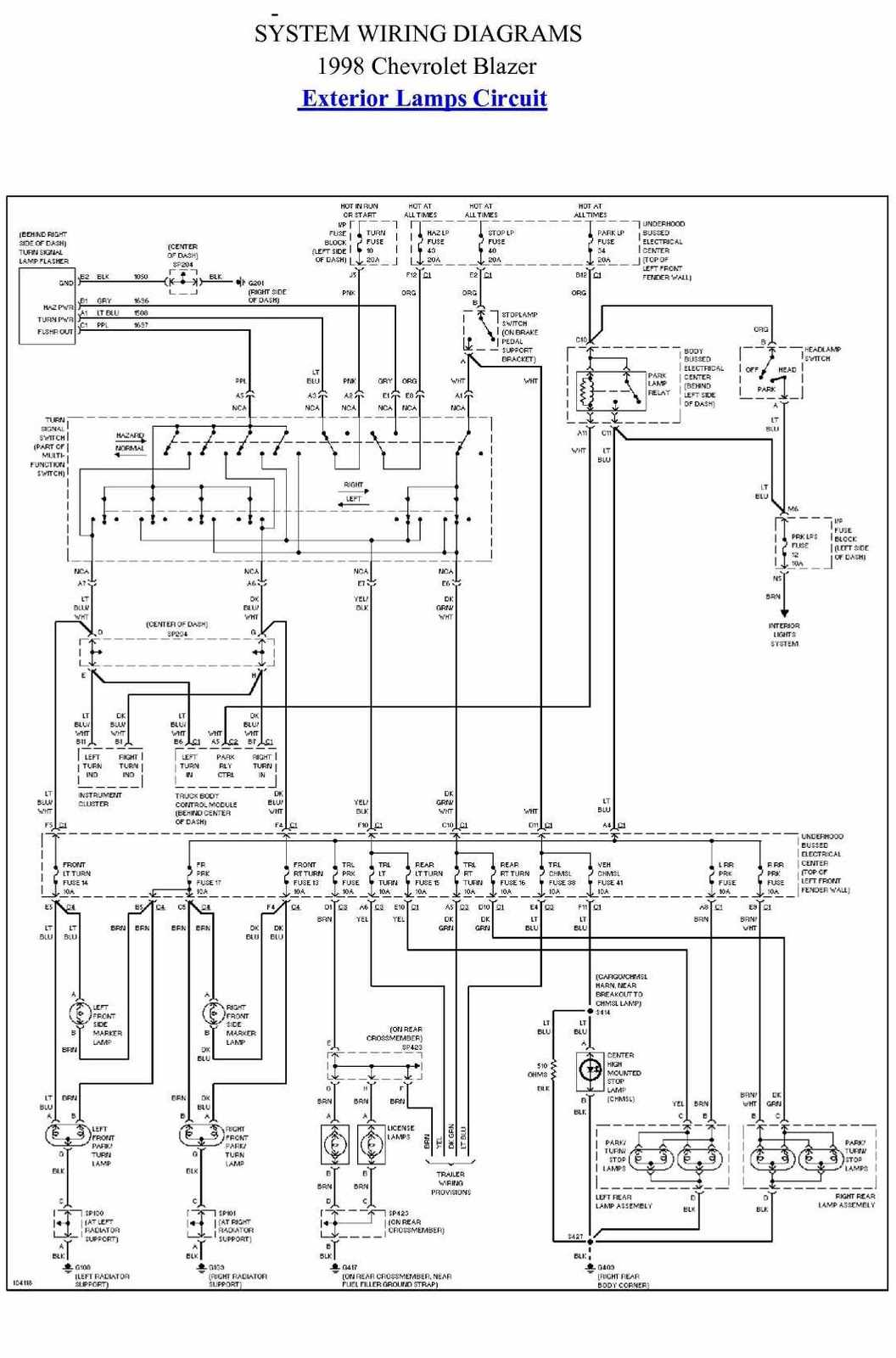 1998 chevy wiring diagram