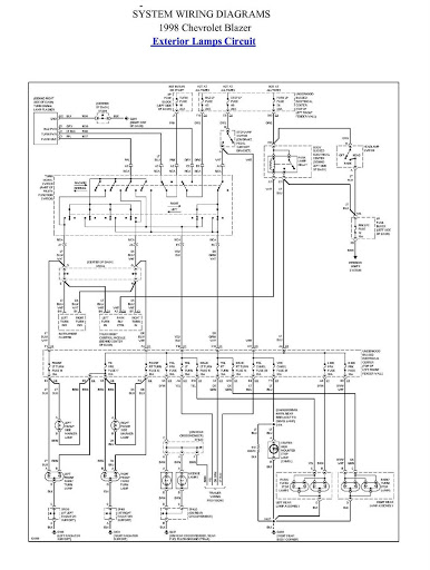 s10 wiring diagrams tail lights wiring diagrams and schematics tail lights not working truck forum 10 1996 1997 gm s10 blazer chis schematic