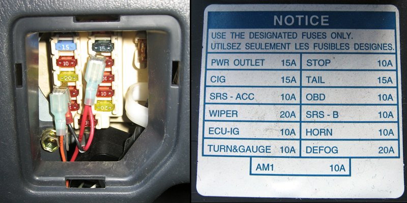 2k33h Power Window Fuse Lacation 1991 Toyota Corolla also Honda Element Knock Sensor Location furthermore Watch also Discussion T5398 ds476899 further RepairGuideContent. on 99 camry fuse box diagram
