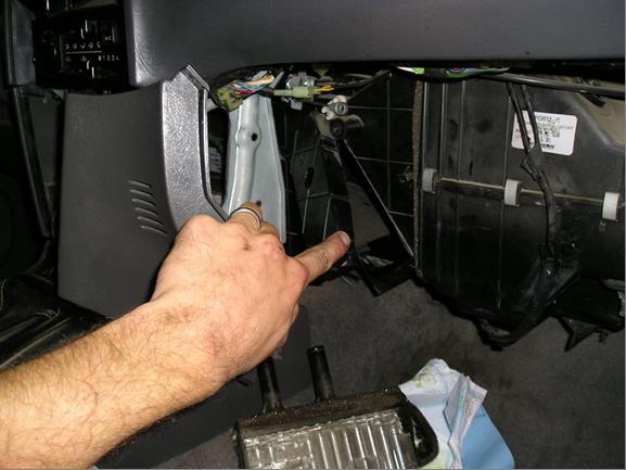 fix  kia rio heater blend service manual