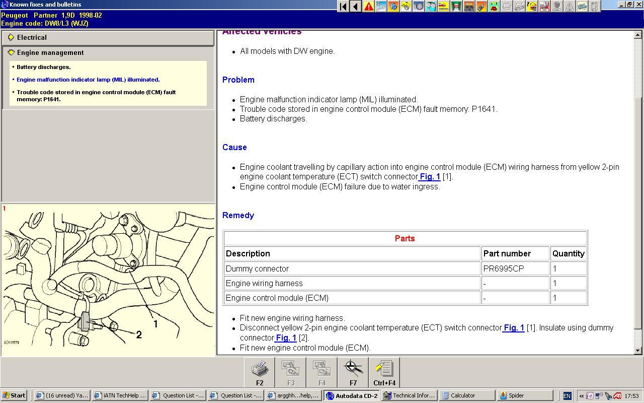 Peugeot 206 Sw Image Details Fuse Box Open 1999