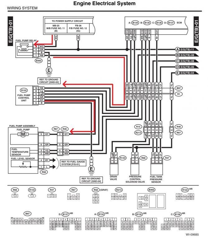 1999 subaru legacy fuel pump control module