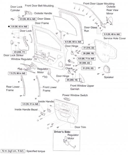 1999 Toyota Camry Door Parts