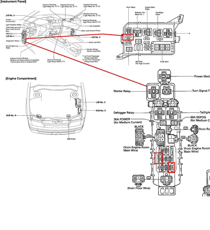 1999 Toyota Avalon Fuse Box Diagram Schematics Data Lexus Lx470 Corolla Image Details 2005 4runner