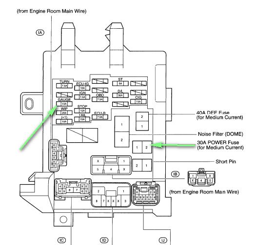 2000 Toyota Corolla Fuse Box Vacuum Diagram
