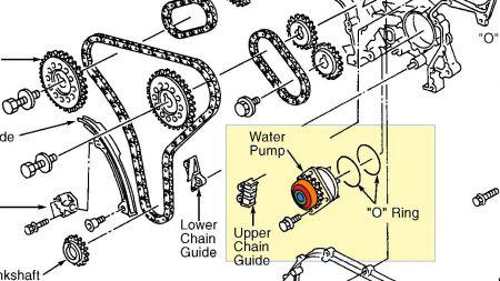 2000 2001 Nissan Maxima Infiniti I30 Secondary Camshaft Timing Chain