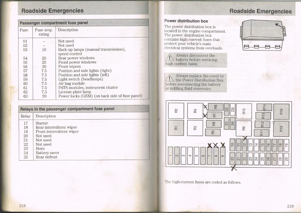 2000 ford focus fuse diagram
