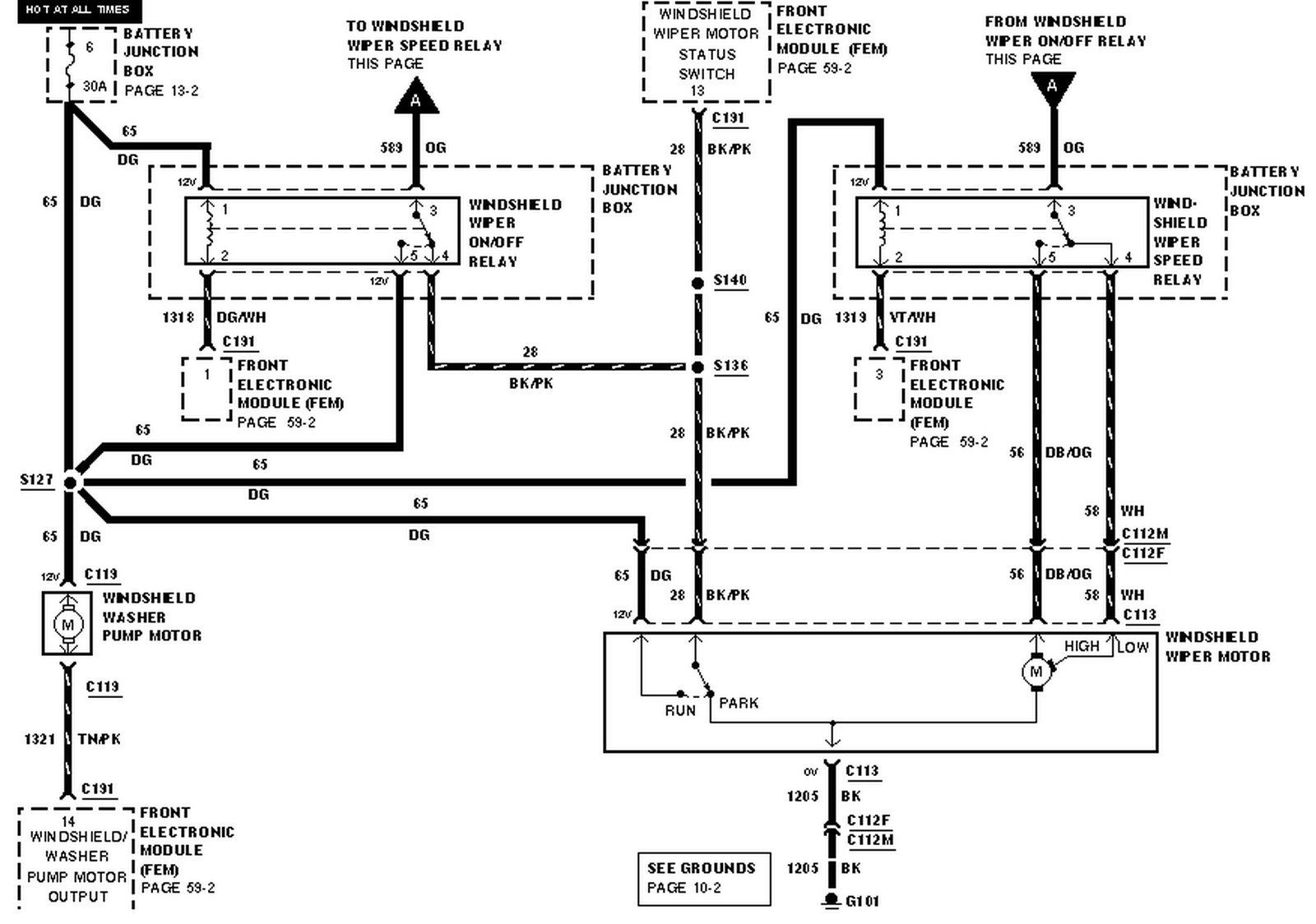 2002 Ford Windstar Fuel Pump Wiring Diagram