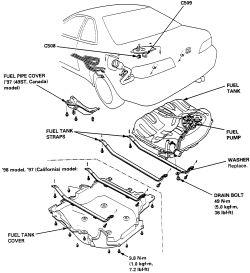 2000 Honda Accord Fuel Tank