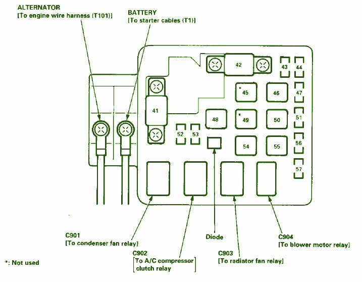 2000 Honda Accord Fuse Box Diagram Image Details