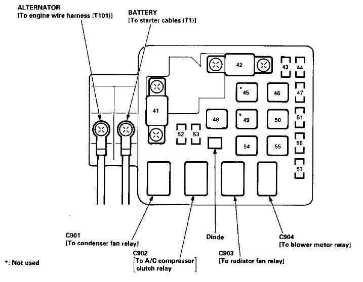 2000 Honda Accord Fuse Box Diagram