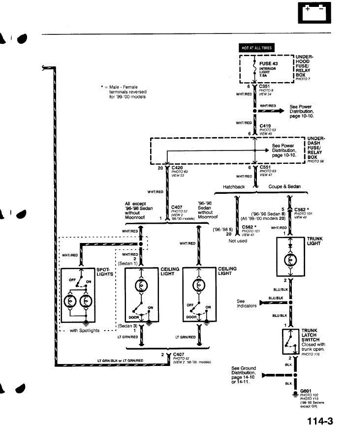2000 Honda Odyssey Brake Light Wiring Diagram image details – Honda Odyssey Wiring