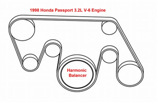 1998 honda accord serpentine belt diagram