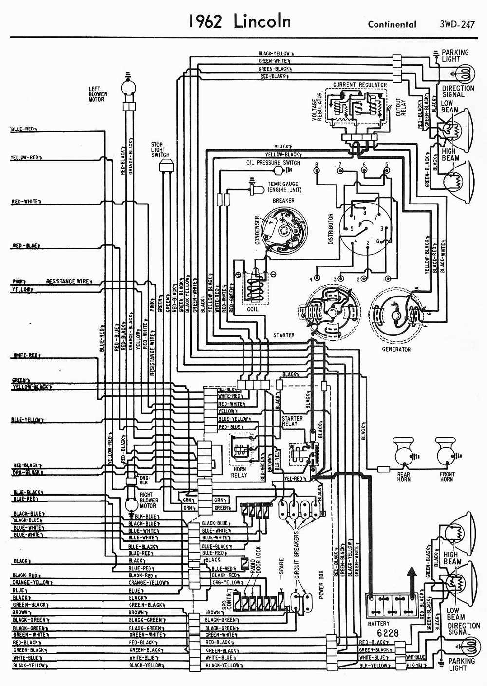 62 Lincoln Engine Diagram Wiring Library 2000 Continental Fuse Box Location