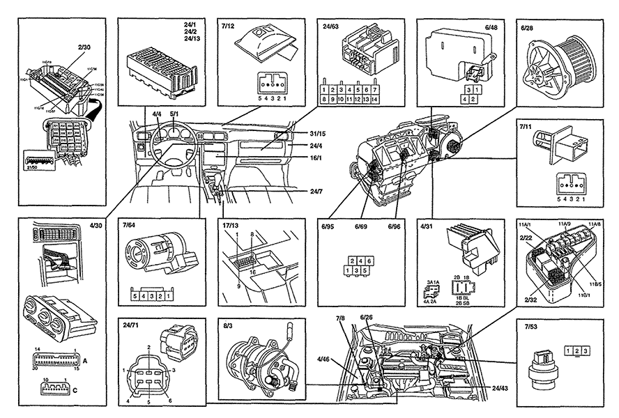 2000 Volvo S70 Blower Motor Wiring Diagram