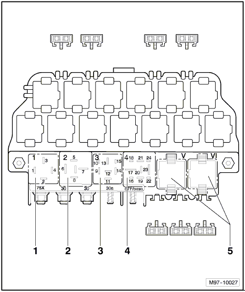 2000 VW Beetle Relay Diagram