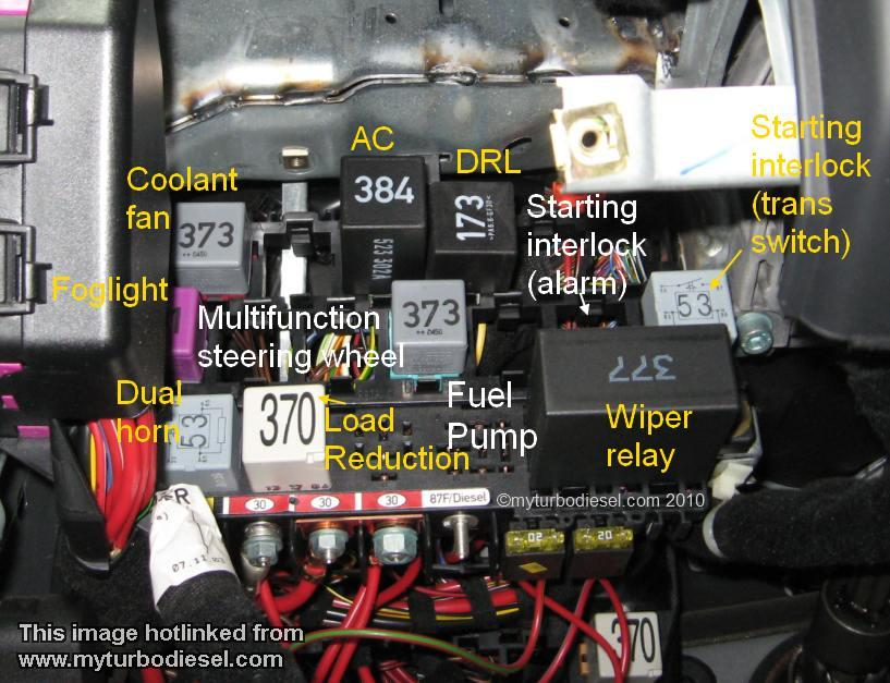 2000 VW Passat Fuel Pump Relay Location