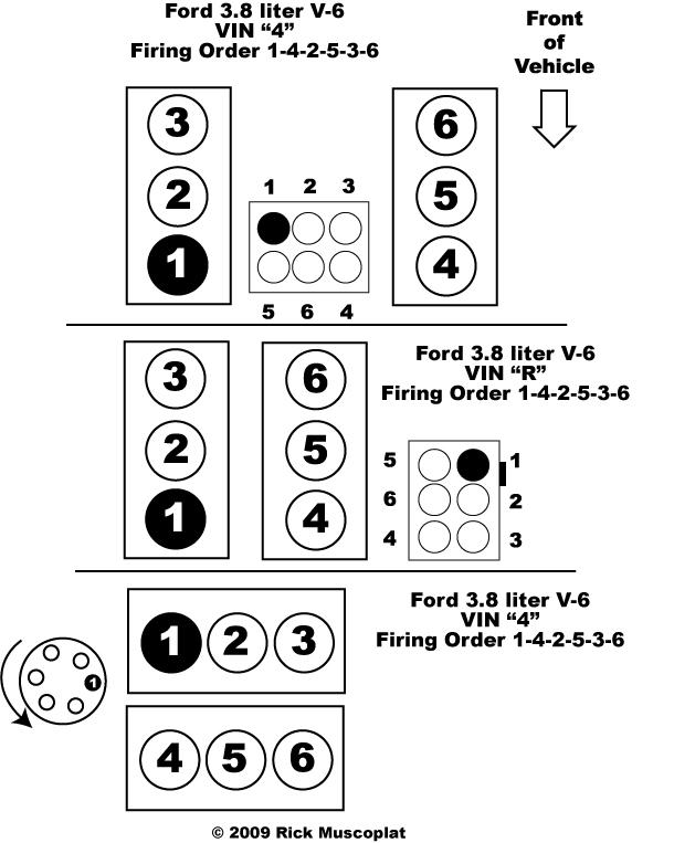 2001 Ford V6 Firing Order Diagram