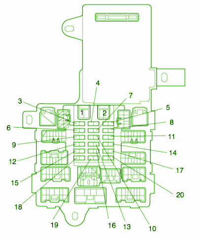 2001 Lexus Fuse Box Wiring Diagrams