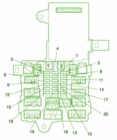 2001 lexus is300 fuse box diagram image details rh motogurumag com Lexus IS300 Alt Relay 2001 lexus is300 fuse box