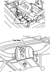 2001 Nissan Frontier Fuel Filter Location - image details