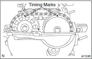 2001 Toyota Celica Camshaft Timing Marks