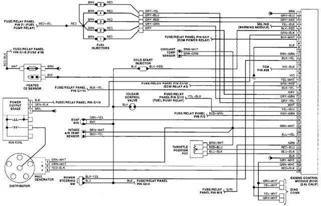 2001 VW Jetta ECM Wiring Diagram - image details